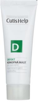 CutisHelp Health Care D - Defekt pomata alla canapa per pelli danneggiate per accelerare la cicatrizzazione