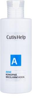 CutisHelp Health Care A - Acne Água micelar de cânhamo 3 em 1 para pele problemática, acne