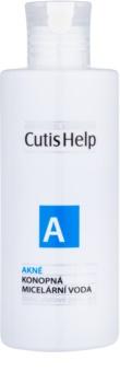 CutisHelp Health Care A - Acne konopny płyn micelarny 3 w 1 do skóry z problemami