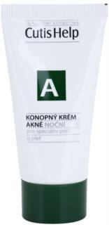 CutisHelp Health Care A - Acne crema de noapte de canepa pentru ten acneic