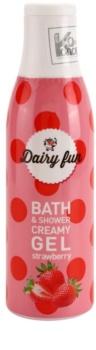 Dairy Fun Strawberry kremowy żel pod prysznic i do kąpieli