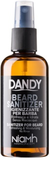 DANDY Beard Sanitizer spray desinfetante sem enxaguar para proteger a barba