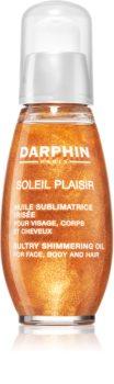 Darphin Soleil Plaisir óleo seco multifunções com brilhantes para rosto, corpo e cabelo