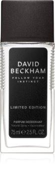 David Beckham Follow Your Instinct déodorant avec vaporisateur pour homme