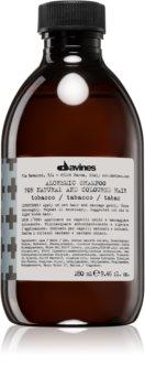 Davines Alchemic Tobacco hydratisierendes Shampoo für eine leuchtendere Haarfarbe