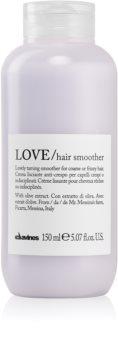 Davines Love Olive crema alisado para cabello encrespado y rebelde
