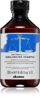 Davines Naturaltech Rebalancing mélyen tisztító sampon a zsíros fejbőrre