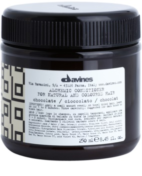 Davines Alchemic Chocolate Moisturizing Conditioner for Hair Color Enhancement