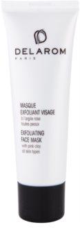 Delarom Essential máscara peeling facial com argila rosa