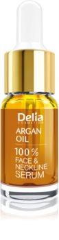 Delia Cosmetics Professional Face Care Argan Oil Intens genoprettende og foryngende serum med arganolie til ansigt, hals og bryst
