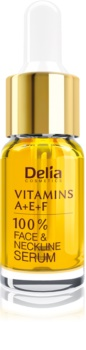 Delia Cosmetics Professional Face Care Vitamins A+E+F sérum anti-rides visage et décolleté
