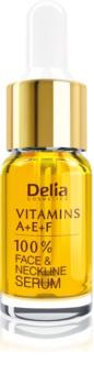 Delia Cosmetics Professional Face Care Vitamins A+E+F сироватка проти зморшок для обличчя та зони декольте
