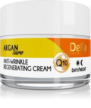 Delia Cosmetics Argan Care регенериращ противбръчков крем с коензим Q 10