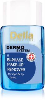 Delia Cosmetics Dermo System двофазний засіб для зняття макіяжу для шкіри очей та губ