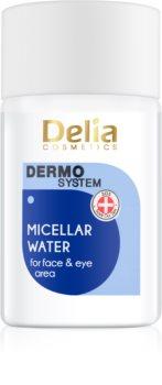 Delia Cosmetics Dermo System міцелярна очищуюча вода для шкіри навколо очей та губ 3в1