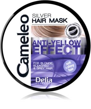 Delia Cosmetics Cameleo Silver Hiusnaamio Keltaisten Sävyjen Neutraloimiseen