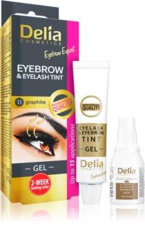 Delia Cosmetics Eyebrow Expert tinta per sopracciglia e ciglia con attivatore