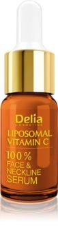 Delia Cosmetics Professional Face Care Vitamin C Lysnende C-vitaminserum  til ansigt, hals og bryst