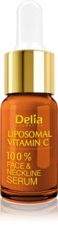 Delia Cosmetics Professional Face Care Vitamin C sérum iluminador com vitamina C para rosto, pescoço e decote