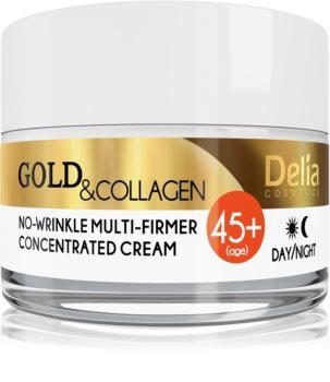 Delia Cosmetics Gold & Collagen 45+ Opstrammende anti-rynke creme