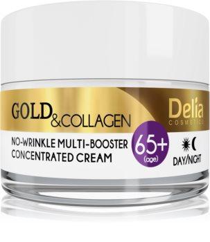 Delia Cosmetics Gold & Collagen 65+ Anti-Faltencreme mit regenerierender Wirkung
