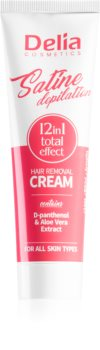 Delia Cosmetics Satine Depilation 12in1 Total Effect Karvanpoistovoide Kaikille Ihotyypeille