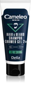 Delia Cosmetics Cameleo Men шампунь та гель для душу для волосся, бороди та тіла