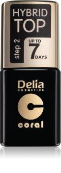 Delia Cosmetics Hybrid Gel gelový vrchní lak na nehty