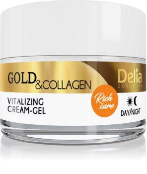 Delia Cosmetics Gold & Collagen Rich Care витализиращ крем за лице