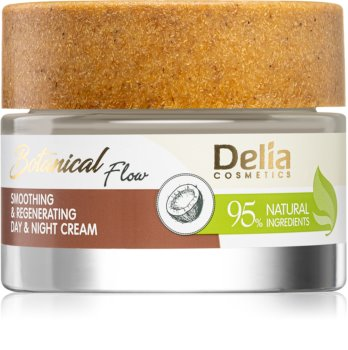 Delia Cosmetics Botanical Flow Coconut Oil Smoothing Day and Night Cream  For Skin Renewal