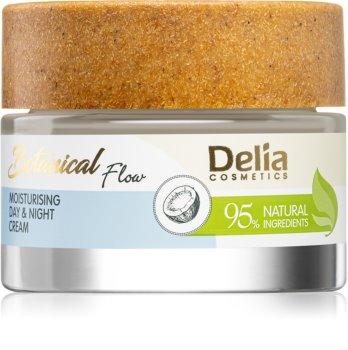 Delia Cosmetics Botanical Flow Coconut Oil crema giorno e notte effetto idratante