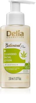 Delia Cosmetics Botanical Flow Hemp Oil čistilni losjon za obraz