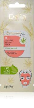 Delia Cosmetics Botanical Flow Hemp Oil upokojujúca pleťová maska pre citlivú a podráždenú pleť