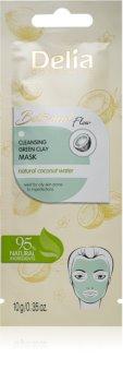 Delia Cosmetics Botanical Flow Coconut Water очищаюча маска для обличчя для жирної шкіри
