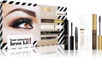 Delia Cosmetics Eyebrow Expert Brown darčeková sada IV. (na obočie) pre ženy