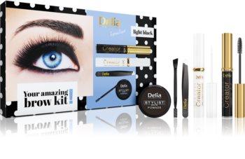 Delia Cosmetics Eyebrow Expert Light Black confezione regalo per sopracciglia