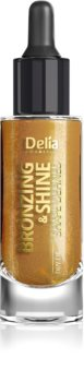 Delia Cosmetics Bronzing & Shine Shape Defined Hohtava Kuivaöljy Kasvoille ja Vartalolle