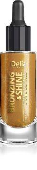 Delia Cosmetics Bronzing & Shine Shape Defined сухо масло с блестящи частици за лице и тяло