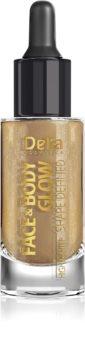 Delia Cosmetics Face & Body Glow Shape Defined течен хайлайтър с пипета