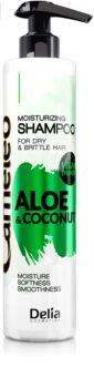Delia Cosmetics Cameleo Aloe & Coconut зволожуючий шампунь для сухого та ламкого волосся
