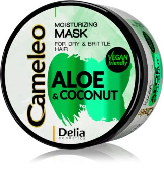 Delia Cosmetics Cameleo Aloe & Coconut Kosteuttava Naamio Kuiville ja Hauraille Hiuksille