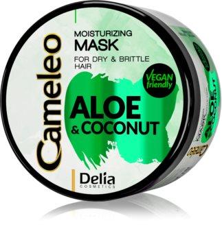 Delia Cosmetics Cameleo Aloe & Coconut maschera idratante per capelli secchi e fragili