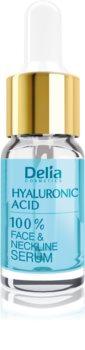 Delia Cosmetics Professional Face Care Hyaluronic Acid Intensivt fyllande serum mot rynkor med hyaluronsyra för ansikte, hals och bröst