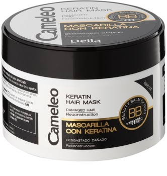 Delia Cosmetics Cameleo BB Keratine Masker  voor Beschadigd Haar