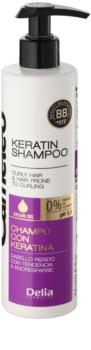Delia Cosmetics Cameleo BB shampoing à la kératine pour cheveux bouclés