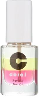 Delia Cosmetics Coral aceite trifásico para uñas y cutículas