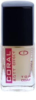 Delia Cosmetics Coral esmalte de uñas protector capa superior con acabado mate