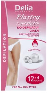 Delia Cosmetics Depilation Fragrance Free bandas de cera depilatoria para el cuerpo