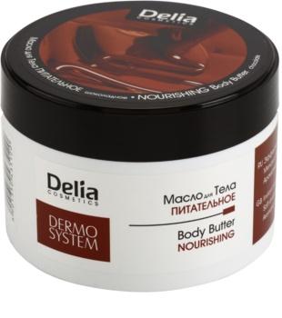 Delia Cosmetics Dermo System manteca corporal nutritiva  con manteca de karité y chocolate