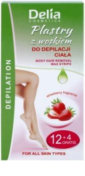 Delia Cosmetics Depilation Strawberry Fragrance voskové depilační pásky na tělo